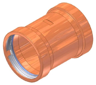"4"" Copper Press Coupling with Stop"