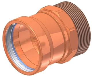 "4"" Copper Press Male Adapter, Press X MIP"