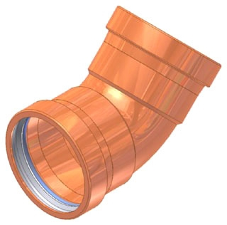 "2-1/2"" Copper Press 45 Elbow"