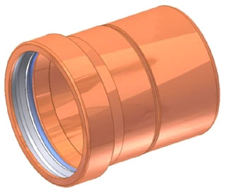 "2-1/2"" Copper Press Cap"