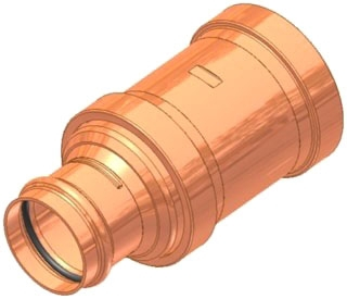 "3""X2-1/2"" Copper Press Coupling with Stop"