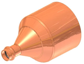 "2-1/2""x2"" Copper Press Fitting Reducer, Fitting x Press"