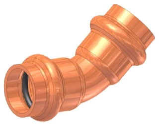 "1-1/4"" Copper Press 45 Elbow"
