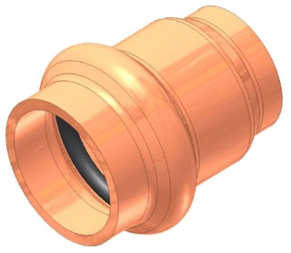"1-1/4"" Copper Press Cap"
