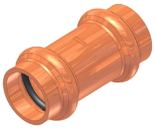 "1"" Copper Press Coupling with Stop"