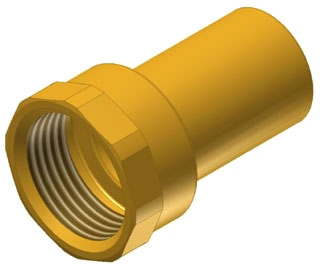 "3/4"" Copper Press Female Fitting Adapter, Fitting X FIP"