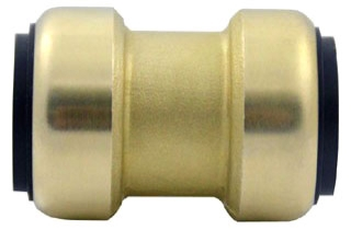 """10155456 1"""" COUPLING WITH STOP TECTITE LOW LEAD PUSH FITTING (0600T-10)"""