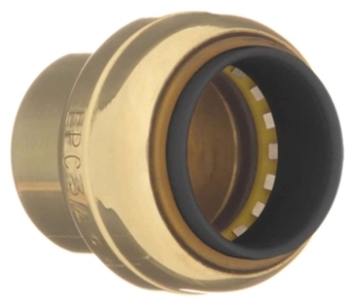 "10155500 1/2"" CAP TECTITE LOW LEAD PUSH FITTING (0617T-04)"