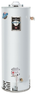 "RG275H6N-264 75GAL 6YR NG 76000 BTU 4"" VENT (Standard Height) 1"" NPT GAS WATER HEATER WITH T/P VALVE AND ALUMINUM ANODE"