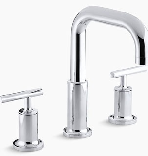 $$$ KT14428-4-CP PURIST DECK-MOUNT FAUCET TRIM