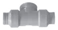 "OF14-14 1-1/2"" COTW/PLUG ORION C.O TEE Without COUPLINGS"