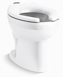 "K96053-0 KOHLER WELLCOMME ULTRA BOWL 1-1/2"" TOP SPUD 1.1 TO 1.6 GPF ELONGATED STANDARD HEIGHT WHITE (Previously K4406-0 K4350-0)"