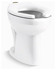 K96057-0 KOHLER HIGHCLIFF ULTRA ADA FLUSHOMETER ELONGATED BOWL W/TOP SPUD 1.1 TO 1.6 GPF RANGE (1.1, 1.28 and 1.6 gpf) WHITE