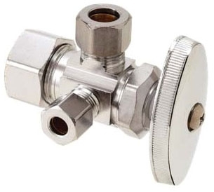 CR1901LRXC1 1/2X3/8X3/8 DUAL CHROME COMPRESSION ANGLE STOP LEAD COMPLIANT