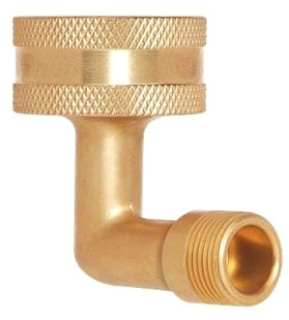 "HES-6-12X BRASSCRAFT 3/4"" HOSE THREAD X 3/8"" FINE THREAD ANGLE FITTING, DISHWASHER ELL LEAD COMPLIANT"