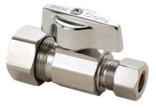 "KTCR14XC 5/8OD X 3/8"" COMPRESSION CP QUARTER TURN STRAIGHT STOP LEAD COMPLIANT"