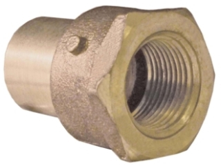 """3/4"""" X 1/2"""" Reducing Fitting Female (FIP) Adapter - Copper Sweat"""