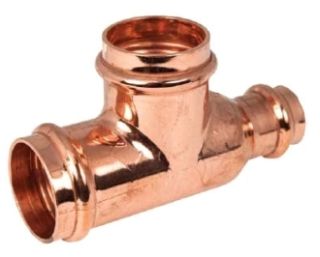 "2""X1-1/2""X1-1/4"" Copper Press Tee"