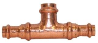 """1/2""""X1/2""""X3/4"""" Copper Press Tee"""