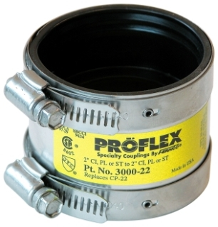 "3000-22 2"" LOW FLEX/SHIELD COUPLING CP-20 CI to Plastic, Steel or XHCI"