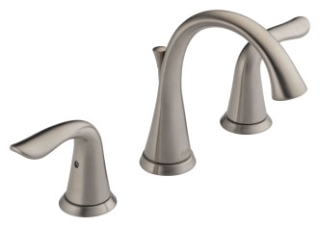 3538-SSMPU-DST Stainless Delta Lahara: Two Handle Widespread Lavatory Faucet