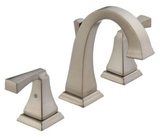3551LF-SS Stainless Delta Dryden: Two Handle Widespread Lavatory Faucet