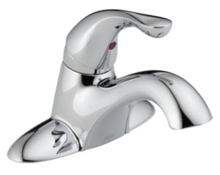 501-DST Chrome Delta Classic: Single Handle Centerset Lavatory Faucet - Less Pop-Up