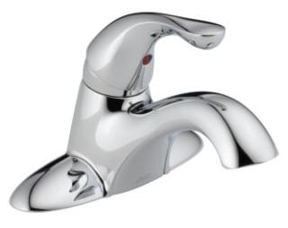501-DST Chrome Delta Classic: Single Handle Centerset Lavatory Faucet - Less Pop-Up