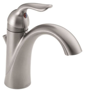 538-SSMPU-DST Stainless Delta Lahara: Single Handle Centerset Lavatory Faucet