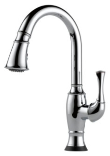 $$$ 64003LF-PC Chrome Brizo Talo: Single Handle Pull-Down Kitchen Faucet With Smarttouch(R) Technology
