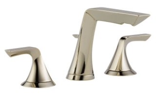 $$$ 65350LF-PN Polished Nickel Brizo Sotria: Two Handle Widespread Lavatory Faucet