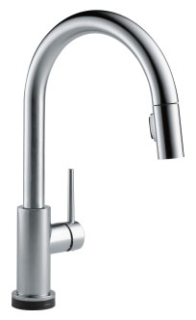 9159T-AR-DST Arctic Stainless Delta Trinsic: Single Handle Pull-Down Kitchen Faucet Featuring Touch2O(R) Technology