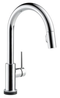 9159T-DST Chrome Delta Trinsic: Single Handle Pull-Down Kitchen Faucet Featuring Touch2O(R) Technology