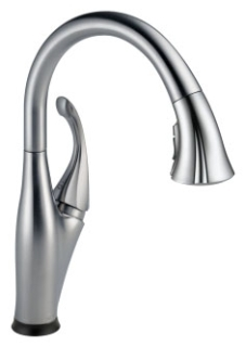 9192T-AR-DST Arctic Stainless Delta Addison: Single Handle Pull-Down Kitchen Faucet With Touch2O(R) Technology