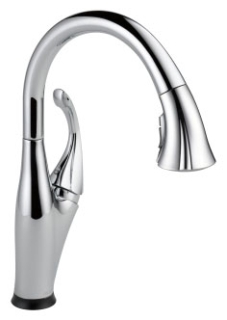 9192T-DST Chrome Delta Addison: Single Handle Pull-Down Kitchen Faucet With Touch2O(R) Technology