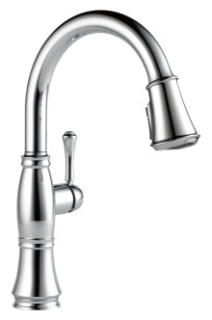 9197-DST Delta Cassidy Single Handle Pull Down Kitchen Faucet chrome