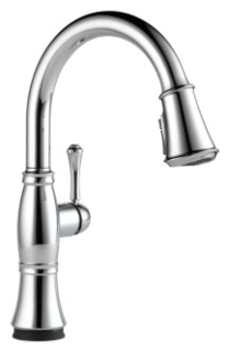 9197T-DST Chrome Delta Cassidy: Single Handle Pull-Down Kitchen Faucet With Touch2O(R) Technology