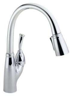 989-DST Chrome Delta Allora: Single Handle Pull-Down Kitchen Faucet