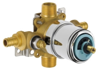 PTR188700-PXWS Peerless: Tub And Shower Valve Body With Stops, With Pex Connections