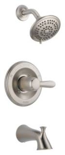 T14438-SS Delta Lahara Monitor(R) 14 Series Tub And Shower Trim lever stainless
