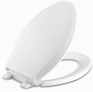 K4636-0 KOHLER CACHET ELONGATED TOILET SEAT SLOW- CLOSE QUICK-REL WHITE