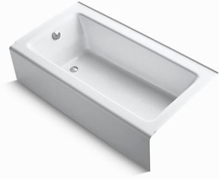 K875-0 KOHLER BELLWETHER LH CAST IRON BATH WHITE