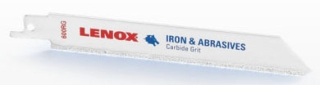 "20576 800RG AMERICAN SAW LENOX 8"" MEDIUM CARBIDE GRIT RECIP BLADE CLAY & PIPE CUTTING (2PACK) -Iron & Abraisive"