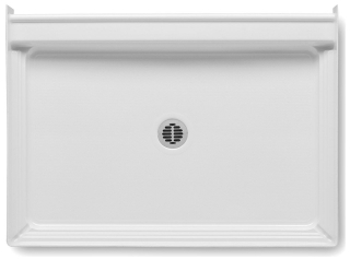 4834CPAN-0 AQUATIC WHITE 48X34 SMC CENTER DRAIN SHOWER PAN ONLY!