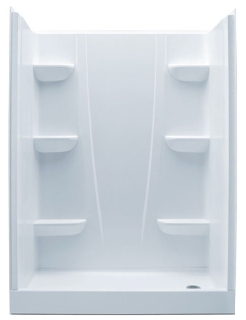 6030CSR-WH RH AQUATIC WHITE 60X30X76 SMC FOUR PIECE SHOWER