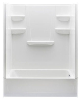 6030CTSR-WHT RH AQUATIC WHITE 60X30X76 SMC 4PC TUB SHOWER