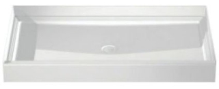 6034CPAN-WH AQUATIC 60X34 SMC CENTER DRAIN SHOWER PAN ONLY!