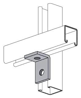 POSPS604EG STRUT FITTING 2 HOLE INSIDE CORNER BRACKET 1-5/8