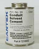PVCCEMENT12PINT PVC CONDUIT CEMENT 1/2PT #99 CTX# 7210601