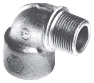 CROUSE HINDS EL196 SA COPPER FREE ALUMINUM; TRADE SIZE 1/2 INCH; 90 DEG BEND; MALE, FEMALE CONNECTION; APPROVAL UL 886, CSA C22.2; CROUSE-HINDS[R] BRAND; EL MODEL